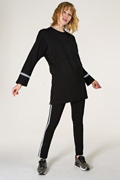 Kadın Siyah Tunik Takım