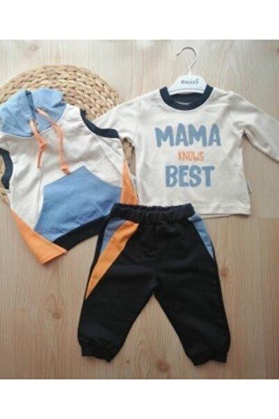 Necix's Erkek Bebek Best Mama Kapşonlu 3 Lü Takım