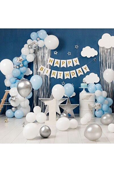 KBK MARKET Mavi Doğum Günü Seti