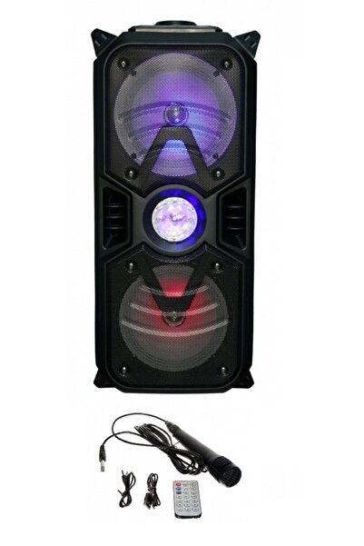 EN SİGA Dj Bluetooth Extrabass Parti Mekan Hoparlör 1000w Mikrofonlu Kumandalı Karaoke