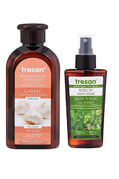 Tresan Sarımsak Onarıcı Bakım Şampuanı 300 ml + K.ağacı Özlü Saç Toniği 125 ml