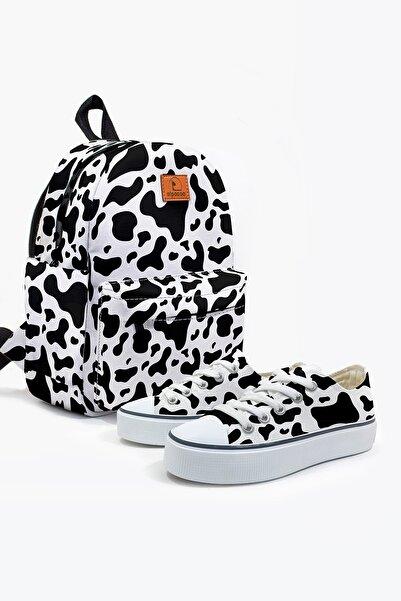 Alpacca Cow Farm Ayakkabı Çanta Kombin