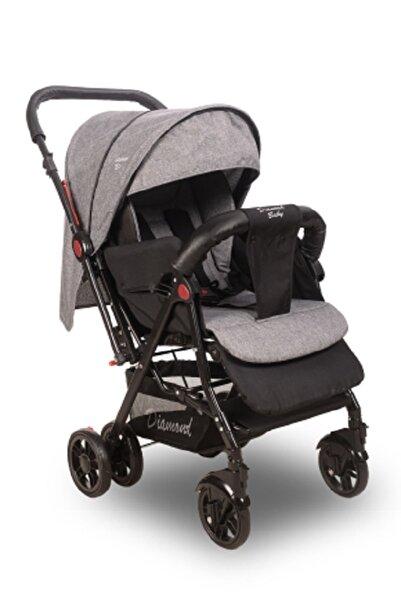 Diamond Baby Gri Sapphire Çift Yönlü Bebek Arabası