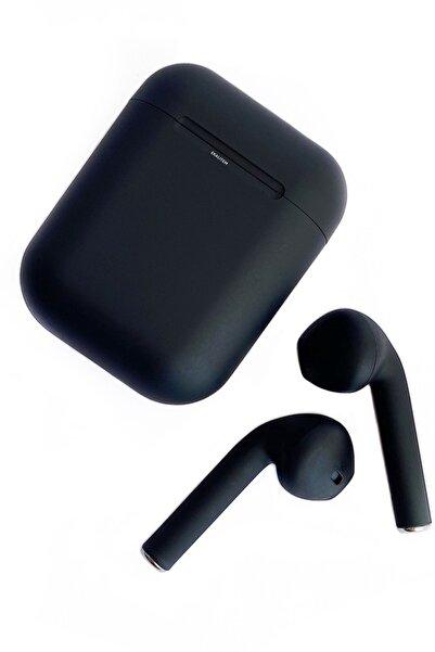 Ekalitem AirPods HD Ses Kutudan Şarjlı Her Telefona Uyumlu Bluetooth Kulaklık i12 Tws 5.0 Siyah