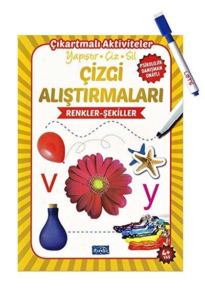 Parıltı Yayınları Çizgi Alıştırmaları - Renkler Şekiller - Yaz Sil Kalem