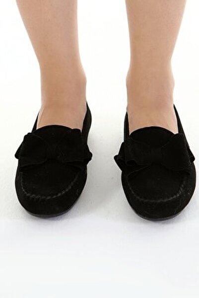 Siyah Fiyonklu Kadın Günlük Casual Sneaker Babet Ayakkabı Byndmot02