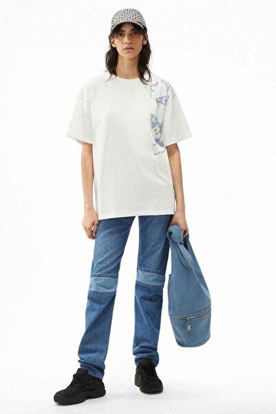 Kenzo Geniş Kesim Yarım Kaplan Grafikli T-shirt
