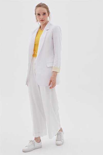 Kayra Ceket-optik Beyaz Ka-b20-13046-02