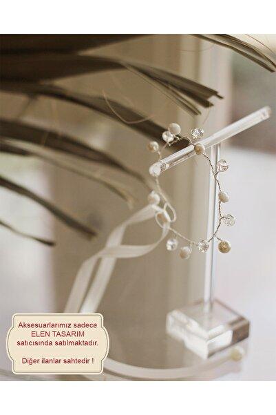 Elen Tasarım Inci Ve Kristal Nedime Bilekliği. Gelin Bilekliği. Incili Bileklik