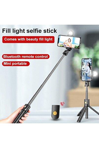 JUNGLEE Bluetooth Lu Selfie Çubuğu Uzaktan Kumandalı Led Işıklı Özçekim Tripod K10-s