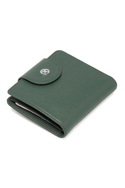 Tergan Koyu yeşil Deri Kadın Cüzdanı 05674j0b