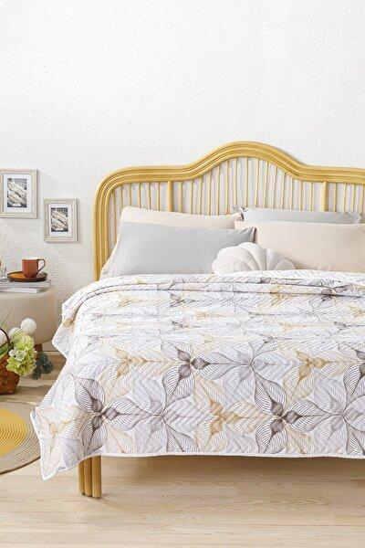 English Home Elegant Lines Çift Kişilik Çok Amaçlı Örtü 200x220 Cm Gold