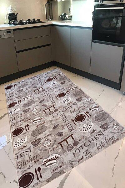 PANDA HALI Mutfak Halısı Yolluk Makinede Yıkanabilir Kaymaz Taban Vizon