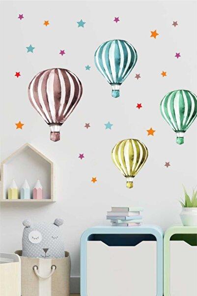 Piksel Grafik Renkli Balon Set Çocuk Odası Duvar Sticker