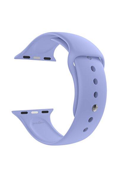 printone Apple Watch 1 2 3 4 5 6 Se Uyumlu Nike 38mm 40mm Uyumlu Kordon Spor Silikon Bileklik S/m - Lila
