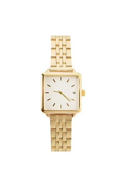 OQQO Fully Altın Kare Kadın Kol Saati