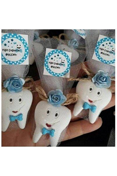BY FİEYDA 20 Adet Erkek Diş Magnet Bebek Şekeri Diş Magnet Diş Buğdayı Diş Partisi