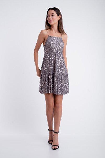 Semadre Pul Payet İşlemeli  Elbise