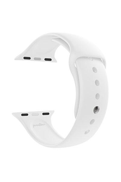 printone Watch 1 2 3 4 5 6 Se Nike 38mm 40mm Uyumlu Kordon Spor Silikon Bileklik S/m - Beyaz