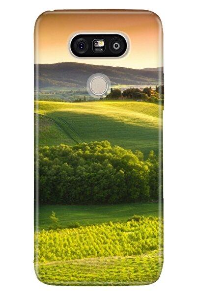 LG G5 Kılıf Pure Modern Desenli Silikon Yeşil Doğa
