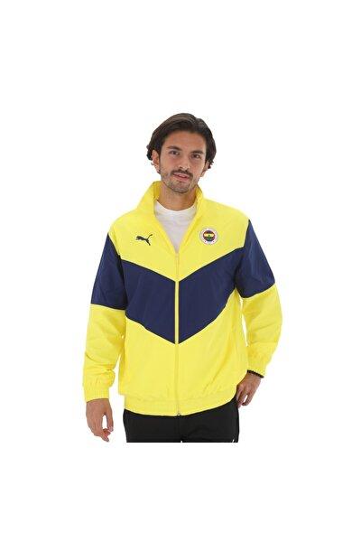 Fenerbahçe 767019-01 Puma Fsk Prematch Jkt Blazing Yellow-medieval Erkek Ceket Sarı
