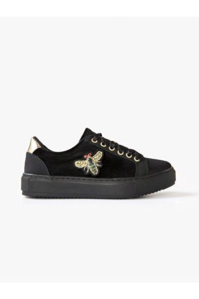 Xint Kalın Tabanlı Işlemeli Ayakkabı