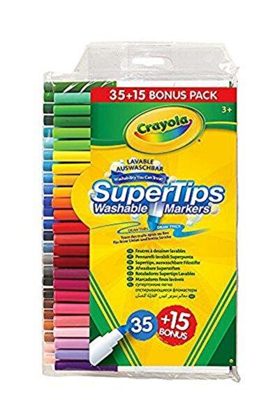 Crayola Yıkanabilir Keçeli Boya Kalemi 35+15 Renk Markers 35+15 Renk