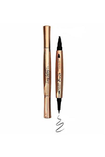 Trinova Microblading Kaş Kalemi Kahve Renği & Siyah Su Geçirmez Eyeliner Liner Black