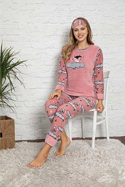 ASEL PİJAMALARI Anne-kız Kombin Polar Pijama Takımı