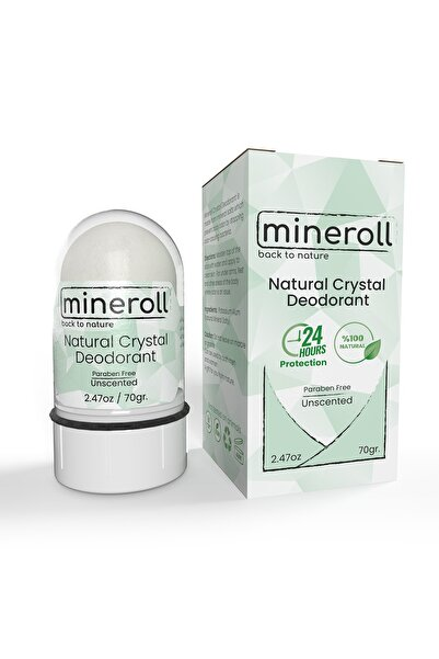 Mineroll Koltuk Altı Beyazlatıcılı Doğal Kristal Deodorant 70g