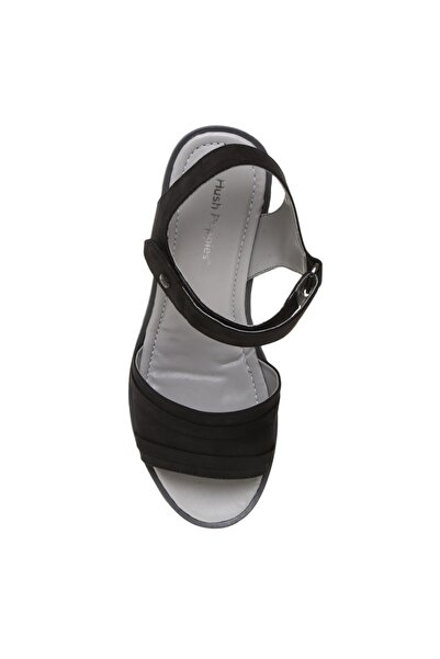 Hush Puppies Kadın Nubuk Siyah Sandalet
