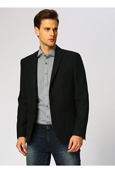 Cotton Bar Koyu Nefti Ceket