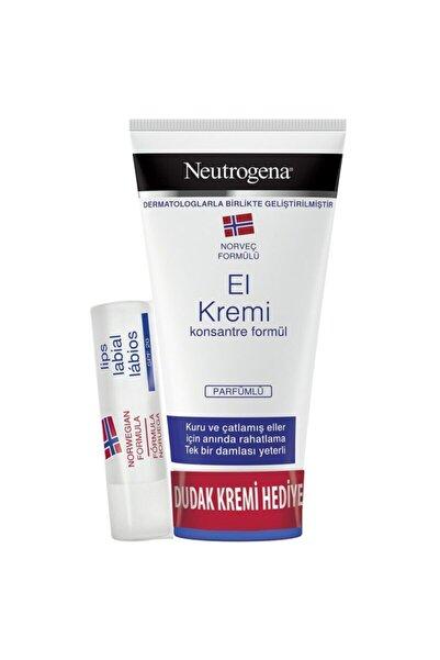 Neutrogena El Kremi Parfümlü 75 Ml + Dudak Nemlendirici