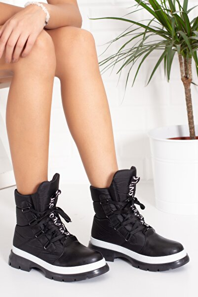 Alessia Shoes Love Detaylı Kalın Taban Kar Botu