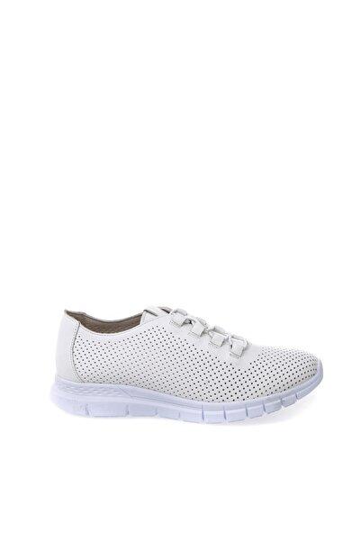 Cotton Bar Beyaz Düz Ayakkabı