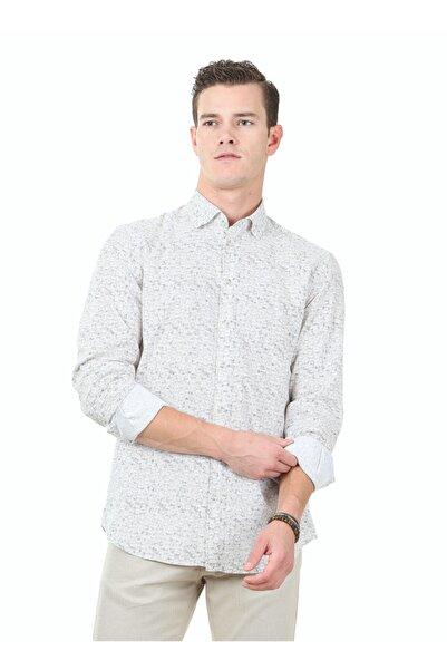 Kip Erkek Slim Fit Baskılı Haki Gömlek