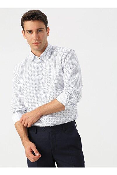 Kip Erkek Lacivert Regular Fit Baskılı Gömlek