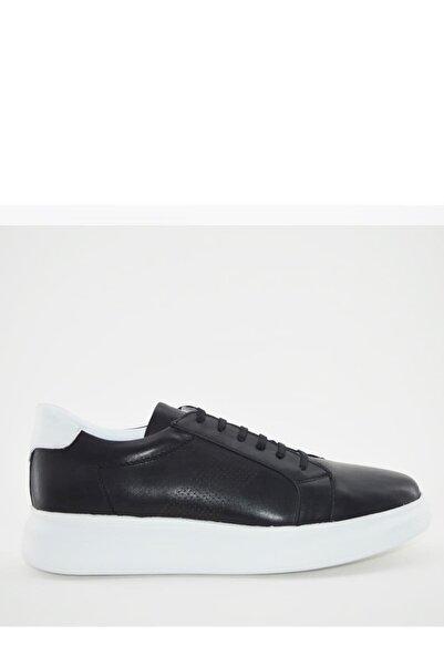 İgs Erkek Siyah Deri Günlük Ayakkabı