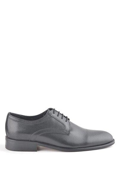 İgs Erkek Siyah Deri Klasik Ayakkabı  19523-1 M 1000