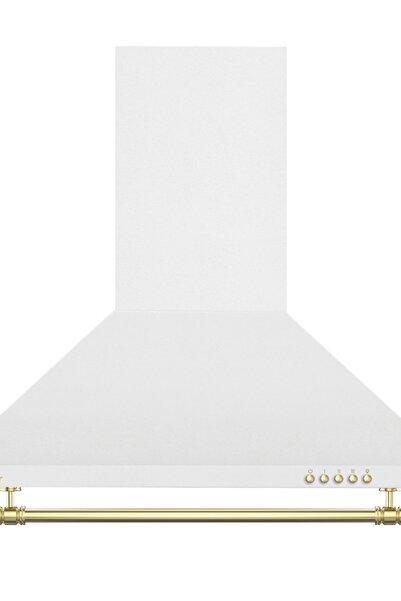 Simfer 9611 60 Cm Rustik Beyaz Cam Davlumbaz