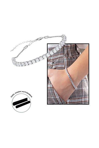 Tesbihane Starlight Diamond Pırlanta Montür Orta Boy 925 Ayar Gümüş Su Yolu Bileklik