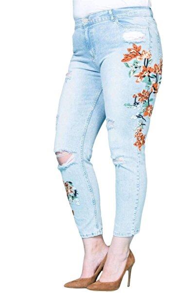 Hanezza Nakışlı Spor Kot Pantolon