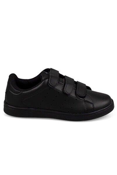 Venuma 568-1 Genç Siyah Bantlı Unisex Sneaker Günlük Spor Ayakkabı