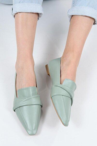 Capone Outfitters Kadın Mint Yeşili Sivri Burunlu Loafer Ayakkabı