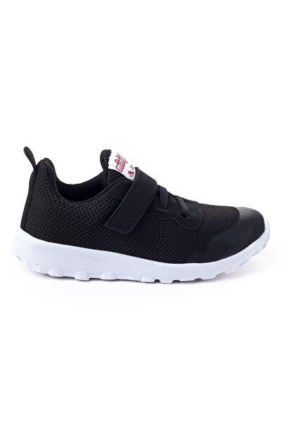 Minipicco Unısex Siyah Ortopedik Destekli Çocuk Spor Ayakkabı