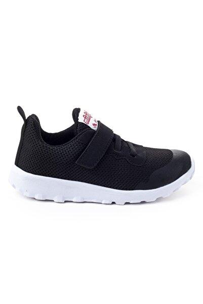 Minipicco Unisex Çocuk Siyah Ortopedik Spor Ayakkabı