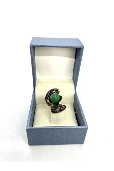 AgateStones Orijinal Yeşil Akik Taşı Bronz Yüzük