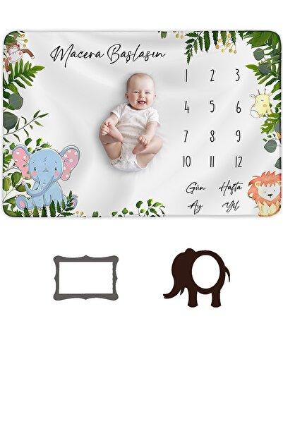 Moky Design Bebek Anı Battaniyesi Yenidoğan Aylık Konsept Fotoğraf Çekim Örtüsü 150x100cm Bebek Hediyelik