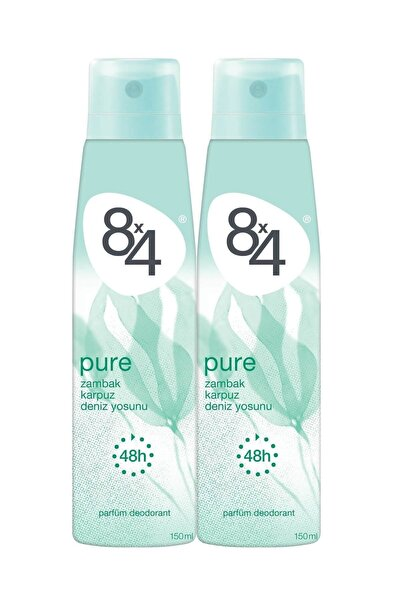 8x4 Pure Deo Sprey Kadın 150 ml 2 Adet