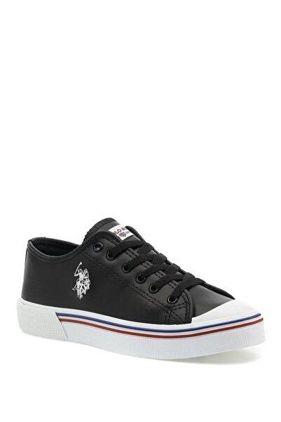 U.S. Polo Assn. Siyah Unisex Havuz Taban Cilt Sneaker
